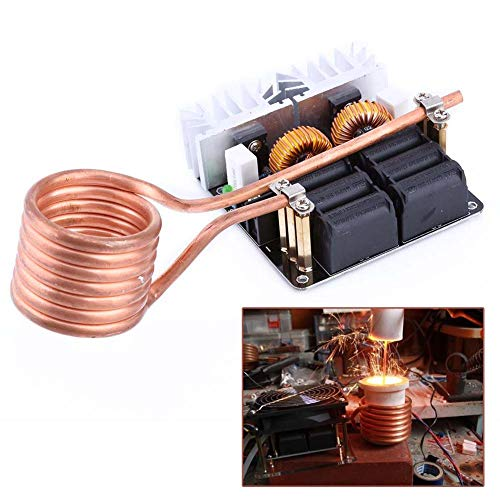 Induction Heater Coil - ZJchao 1000W ZVS Low Voltage Induction Heating Board Module Tesla coil 12V-48V Flyback Driver Heater DIY