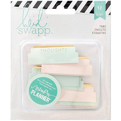 Heidi Swapp 312570 12 Piece Memory Planner Cardstock Tabs ()