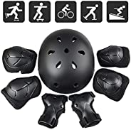 Kids Helmet Knee Pads for Kids 3-8 Years Toddler Helmet, Jhua Kids Protective Gear Set - Knee Pads Elbow Pads
