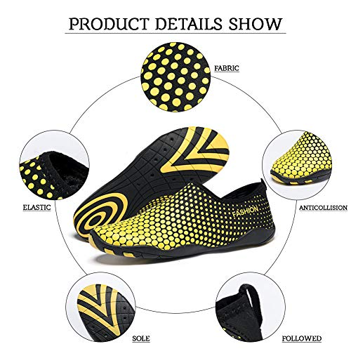 Nager Mens Surf Plonge Aqua Yellow Sports Jardin Canotage Water Marcher dot Plage Shoes Lgers Yoga Conduite Madaleno Rapide Schage PRfvEnx