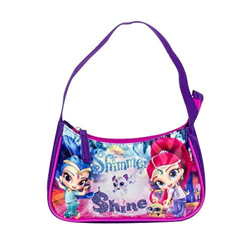 Girls Nickelodeon Purple Shimmer and Shine Hobo Bag