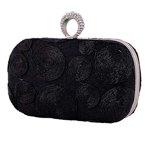 Weatly Craft Black Sera Donna Da Lady A Borsa Silver color Tracolla xSPwxrfTq