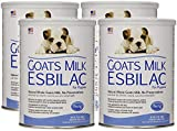 Pet Ag 4 Pack of Goat's Milk Esbilac Powder for Puppies, 12 Ounces Per Canister
