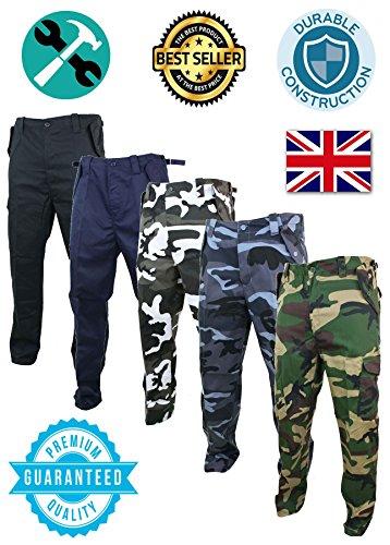 Stile Pantaloni uomo Combat da Camouflage Fabric Premium camouflage Black Army xxP7frT