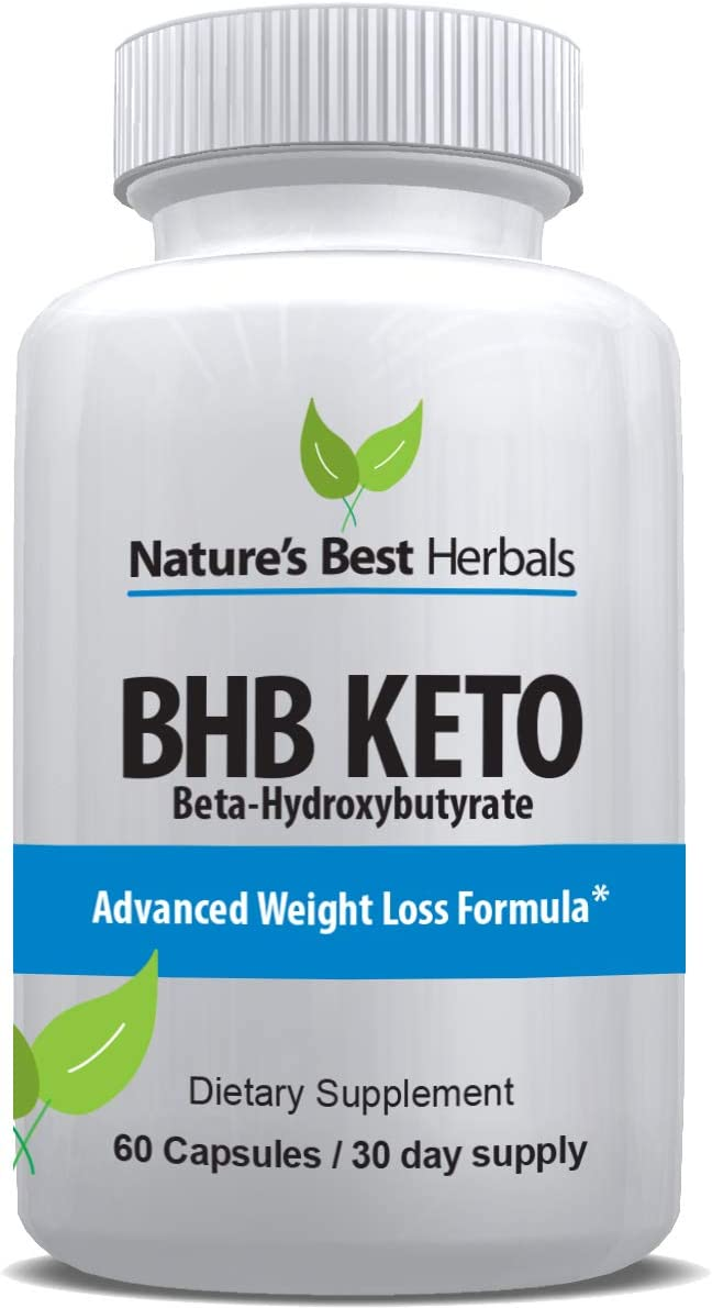 Advanced BHB KETOGENIC Diet Supplement BETA HYDROXYBUTYRATE Weight Loss Capsules use Fat for Energy Increase Metabolism Keto Fat Burning Diet Pills 800 mg, 60 Capsules, 30 Day Supply