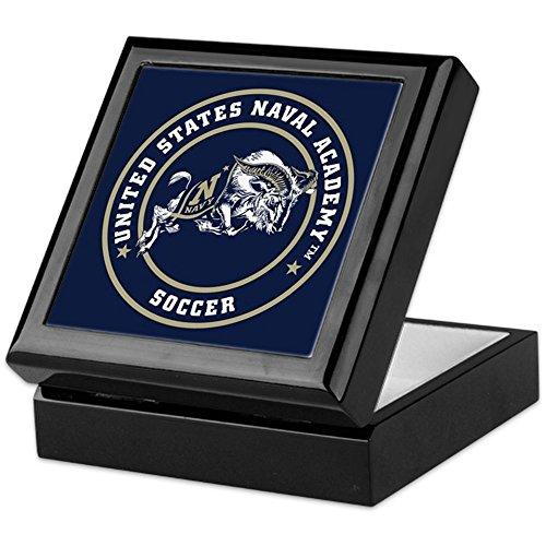 CafePress - US Naval Academy Soccer - Keepsake Box, Finished Hardwood Jewelry Box, Velvet Lined Memento Box