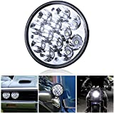"H5001 Led Headlight Par46 LED Light for Unity Spotlight, 5.75"" 5-3/4"" Round Led Pods for Truck Offroad Led Work Light Replacement Sealed Beam Projector 36W Chrome(1 Pcs)"