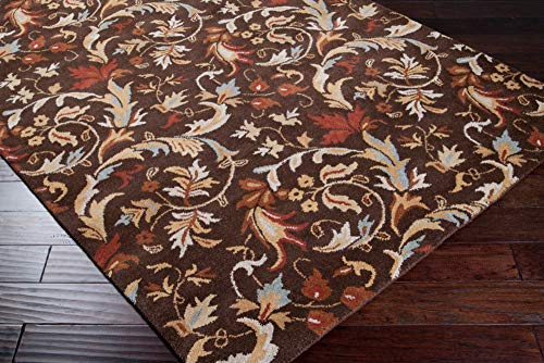 Chocolate Surya Foundation 2'x3' Transitional Rectangle Area Rug from ()