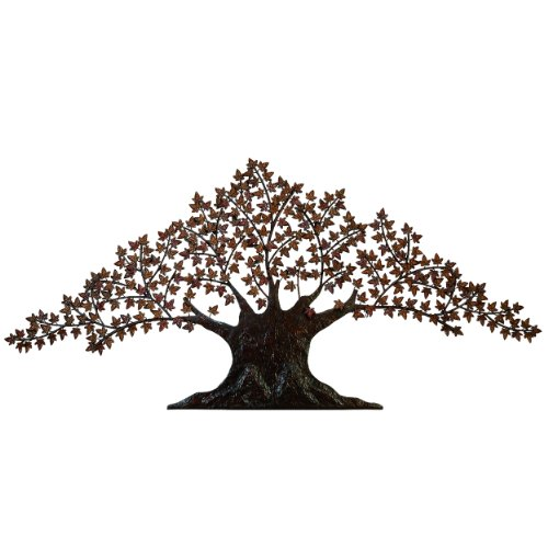 - Urban Designs Handcrafted Tree of Life Large Metal Wall Art Decor, 7', Brown