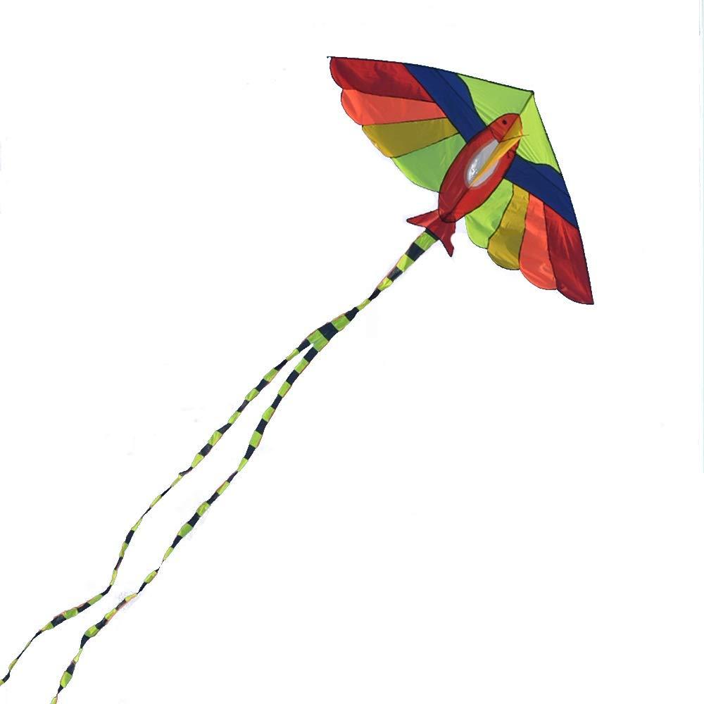 6.3メートル 大人用 ロングテイルカイト 簡単に飛ばせるカイト (2色) B07QNK7N1Q A