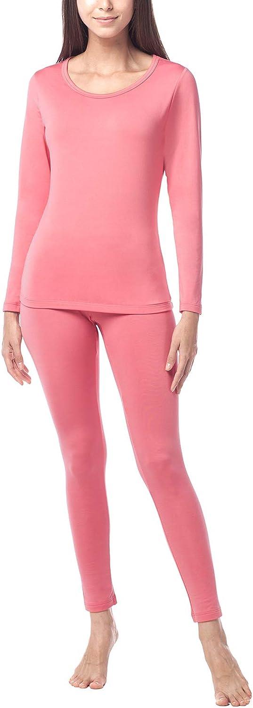 LAPASA Women/'s Thermal Underwear Set Warm Thermal Underwear Long Sleeve Top /& Bottom Long Johns Pants L17 L44 L41