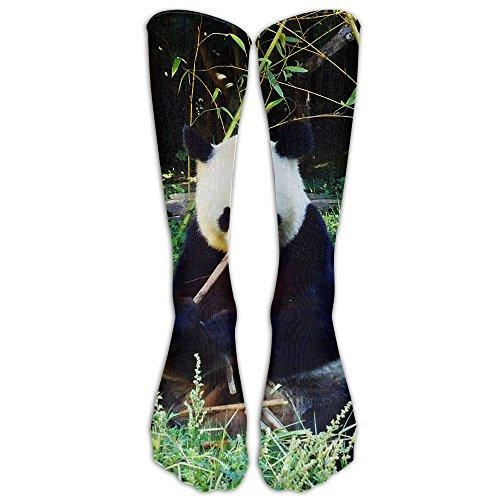 Panda Snack Time Unisex Casual Long Socks Stockings Crazy Pattern Cotton Socks For Men Women (Christmas Stockimgs)