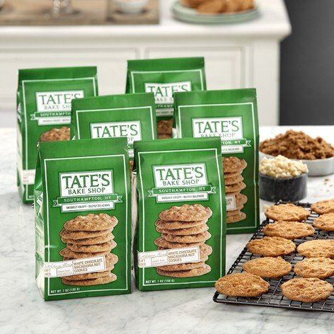 Tate's Bake Shop 6 Pack White Chocolate Macadamia Nut Cookies
