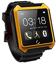 WEMELODY Smartwatch Travel Tricks Waterproof Bluetooth4.0 Smart Watch for iPhone Samsung iOS Android (Beige)