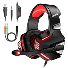 VersionTECH V-3 Gaming Headset for PS4, Xbox One, PC, Gaming Headphones with Noise Cancelling Mic, LED Light, Volume Control for Playstation 4, Laptop, Nintendo Switch, Mac, iPad, Tablet, Smartphones