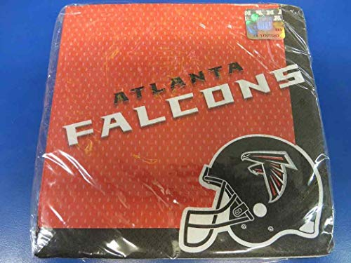 Atlanta Falcons Paper Napkins NFL Pro Football Sports Banquet Cocktail Game Day Themed College University Party Drink Supplies Luncheon for 20 Guests Orange Napkins]()