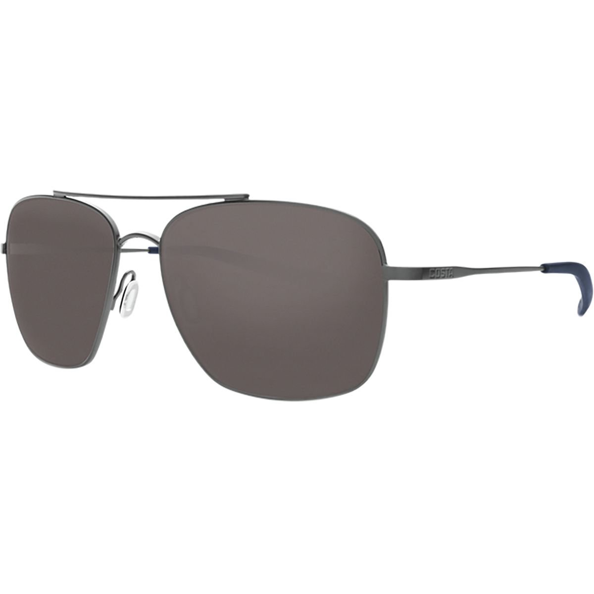 46c5ea366e65 Amazon.com: Costa Del Mar Canaveral Sunglasses Brushed Gray/Gray 580Glass,  One Size: Sports & Outdoors