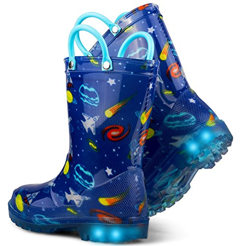 Chillipop Light Up Rainboots For Boys, Girls & Toddlers With Fun Kid Prints With 5 Lights by Chillipop (Image #4)