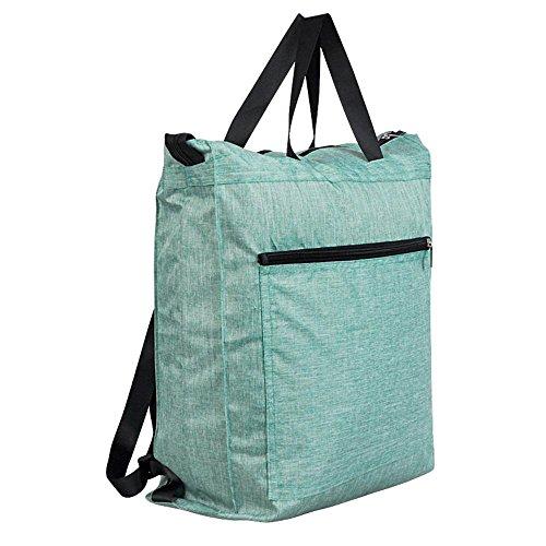 Pawaca - Bolsa de la compra, impermeable, reutilizable, compacta, plegable, ligera, bolsa de almacenamiento para el hombro, bolso de mano, bolsas de alimentos, bolsas de viaje para la compra, super re Verde