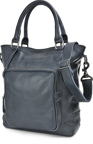 MASQUENADA, borse a tracolla donna in pelle, tracolle, borse, 28,5 x 33 x 9 cm (L x A x P), colore: blu scuro