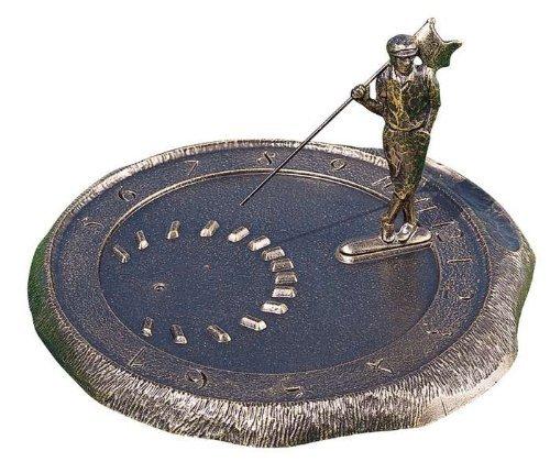 Whitehall Products Golfer Sundial, French (Whitehall Bronze Sundial)