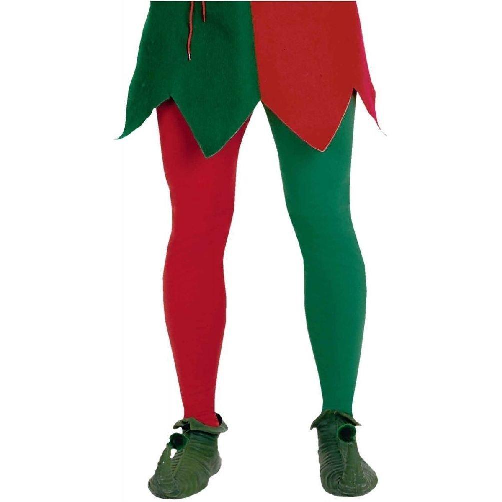 Amazon.com: Verde, Rojo y mallas Medias elfo navidad disfraz ...