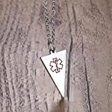 Pendant Stainless Steel Pendant Necklace Mens Jewelry Red Medical Symbol