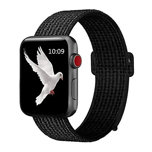 Booyi Sport Band Compatible with Apple Watch 38mm 40mm 42mm 44mm,Strap Replacement for Series 4 3 2 1 ()