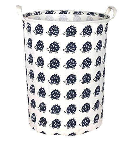 Sanjiaofen Large Storage Bins,Canvas Fabric Laundry Basket Collapsible Storage Baskets for Home,Office,Toy Organizer,Home Decor(Hedgehog)