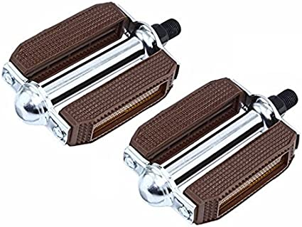 """NEW BICYCLE PVC BLOCK PEDALS BROWN 1//2/"""" or 9//16/""""  LOWRIDER CRUISER CYCLING BIKES"""