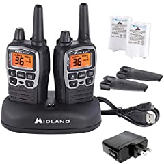 Gear up for the outdoors without sacrificing communication with the Midland T71VP3 X-TALKER Walkie Talkie. It is a water resistant radio that provides clear point-to-point communication, reception, transmission, and sound quality. Connection ...