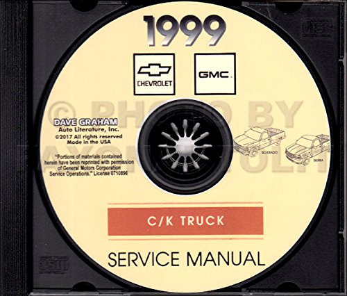 .THE ABSOLUTE BEST 1999 CHEVROLET C/K SERIES TRUCKS & PICKUPS REPAIR SHOP & MAINTENANCE MANUAL CD Includes All Silverado 1500 2500 and Sierra 1500 2500 Models