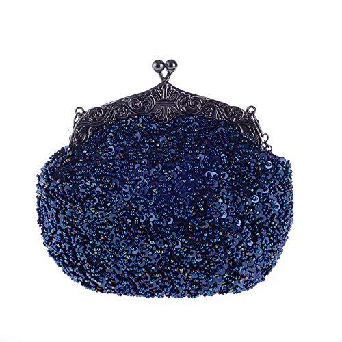XRKZ Sac De Soirée Rétro, Diamant Incrusté Luxe Haut De Gamme à La Main Sac à Main Anti-Rouille Sac De Mariée Mode élégant Multicolore en Option,G J