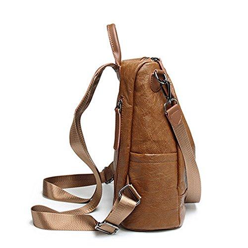 à en Brown sac sac cuir pour double sac dos sac dos occasionnel noir Vintage à Grand les Moyen à dos dos FZHLY cuir sac ville chaud Zipper en quotidien femmes véritable à qw4RXnxwCH