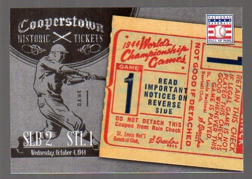 - 2013 Panini Cooperstown Historic Tickets #15 1944 World Series -