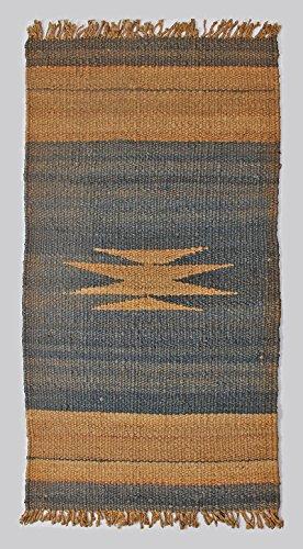 Indian Welcome Doormat Southwestern Geometric Jute Area Rug 3