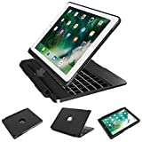 2017&2018 iPad 9.7 Case with Keyboard, iPad Air Case with Keyboard,iPad Air 2 Case with Keyboard,iPad Pro 9.7 Case with Keyboard, Detachable 7 Color Backlit Wireless Bluetooth iPad Keyboard Case Cover