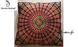 Indian Bohemian tapestry meditation cushion boho floor cushion handmade pillow insert boho seating pouf ottoman indian pillow shams boho mandala dog bed bohemian mandala floor pillow (Cover Only)
