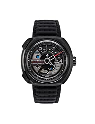 Sevenfriday V-Series Automatic Black Leather Mens Watch V3-1