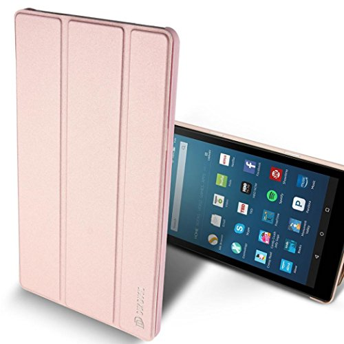 Price comparison product image For Amazon Fire HD 8 Tablet (6th Gen,2016 release Only),Sunfei Slim Folding Stand Case Cover With Auto Wake Sleep (Rose Gold)