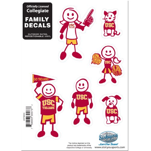 (Siskiyou NCAA USC Trojans Small Family Decal Set )