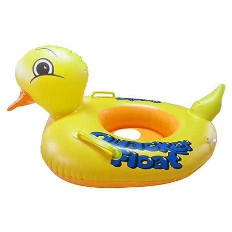nibito inflable bebé niños pato amarillo flotador asiento barco piscina natación Anillo