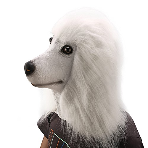 Ylovetoys Novelty Poodle Costume Mask Latex Dog Animal (Animal Nose Masks)