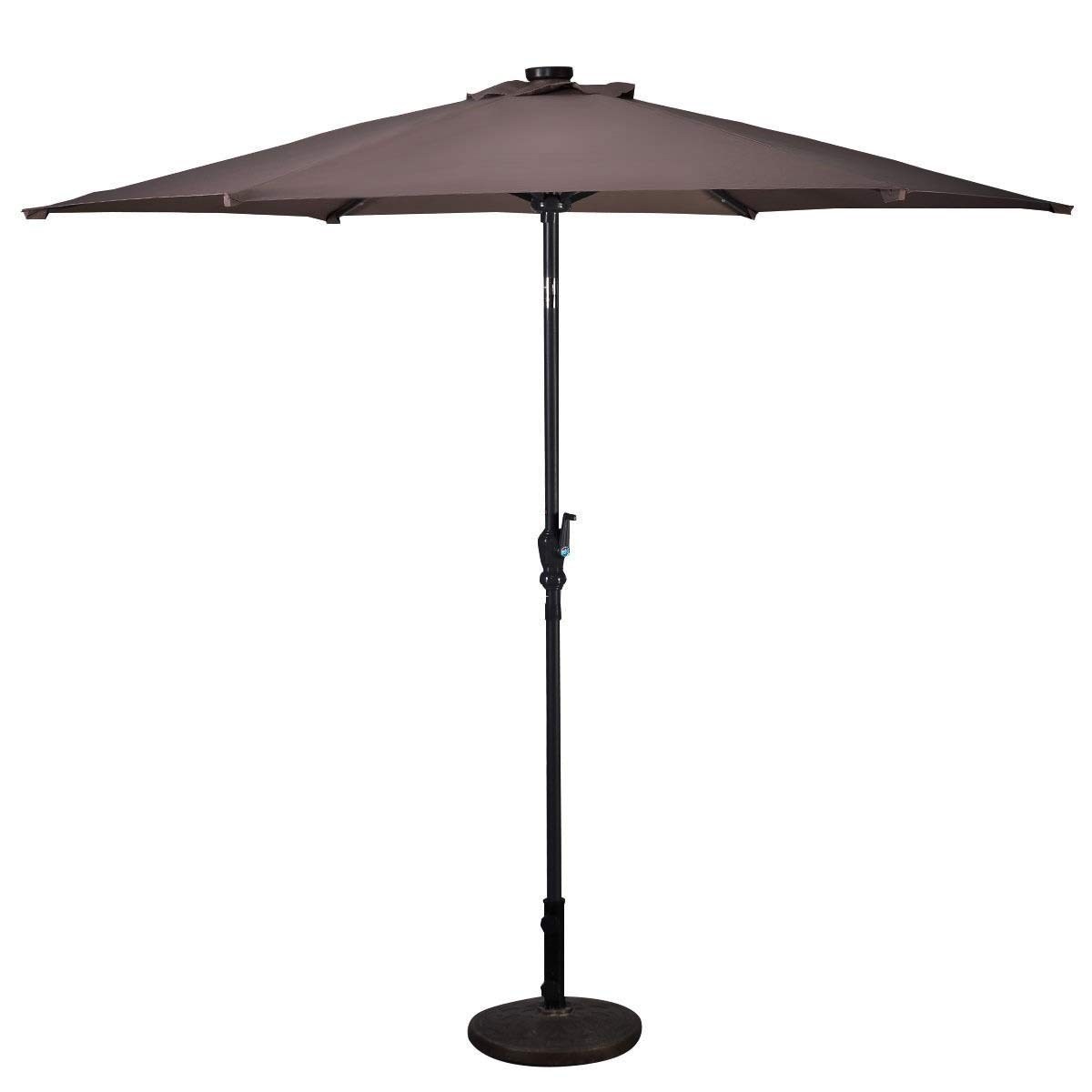 Lucky-gift - 9 ft Patio LED Solar Umbrella with Crank - Outdoor Umbrella with Led Lights - Umbrella Solar Light Lighting - Outdoor Umbrella Cover Uv Protection Tablecloth by Lucky-gift