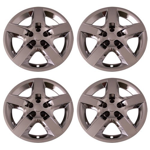 (Set of 4 Chrome 17 Inch Chevy Malibu & Pontiac G6 Replacement Bolt On Retention System Hubcaps : IWC435/17C by IWC)
