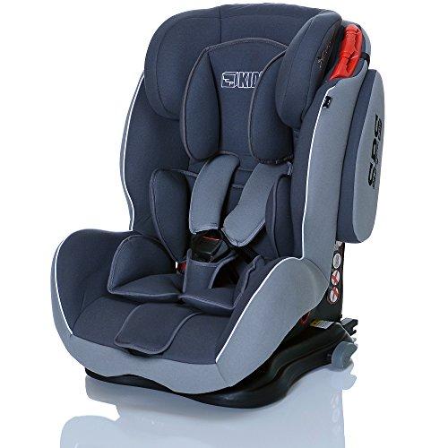 LCP Kids 34 Autokindersitz Saturn I-Fix - Gruppe I,II und III 9-36 kg, ECE R44/04 zertifiert - ISOFIX geeignet, silber/graphit