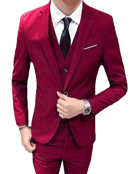 BingSai - Traje - para Hombre Rojo Rosso XXS: Amazon.es ...