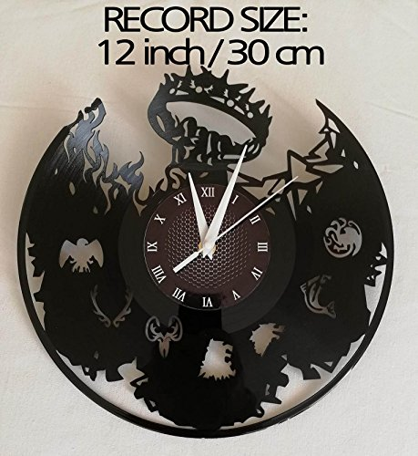 SEASON 7 GAME OF THRONES Handmade Vinyl Record Wall Clock – Get unique home room wall decor – MARVEL COMICS Gift ideas for parents, teens GOT Epic Movie Unique Modern Art WINTER IS COMING SEASON 7 6