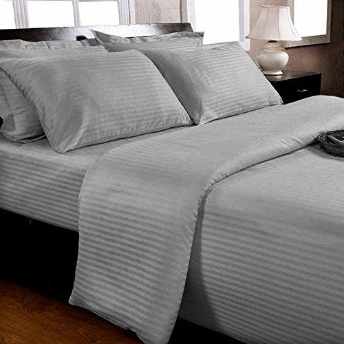 Percal de algodón egipcio 1000 hilos Queen juego para cama de diseño de rayas, diseño de elefante gris, 4 piezas Juego de: Amazon.es: Hogar