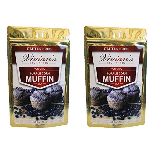 (Purple Corn Muffin Mix- Non-GMO, Gluten Free, Whole Grain 2Pk )